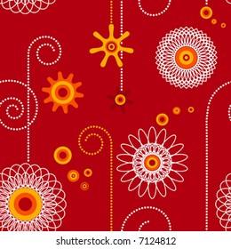 geometric abstract seamless modern floral wallpaper