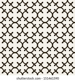 Geometric abstract seamless pattern. Classic background. Vector illustration