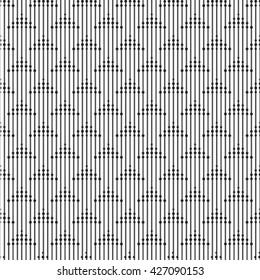 Geometric abstract seamless pattern. Linear motif background. Monochrome decoration design
