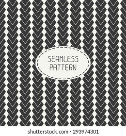 Geometric abstract striped seamless pattern with chevron. Paper for scrapbook. Vector illustration. Background. Tiling. Stylish graphic texture for your design, wallpaper.