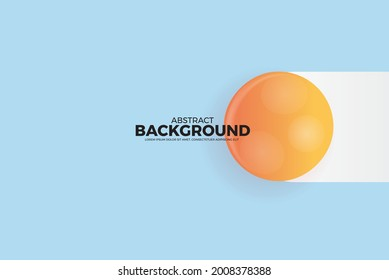 Geometric Abstract Vector Background. Original realistic ball vector abstract gradient illustration, background for magazine cover, Banner, Poster.