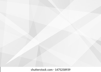 Geometric abstract white and grey on light silver background modern design. Vector illustration EPS 10.