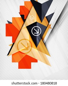 Geometric abstraction business poster. For banners, business backgrounds, presentations
