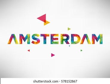 Geometric Amsterdam City Vector Design