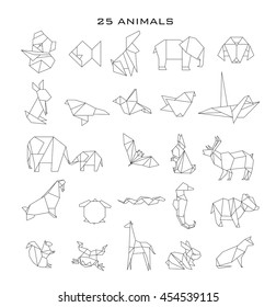 Geometric animals, vector