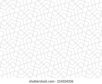 Geometric arabic seamless pattern. Abstract background.