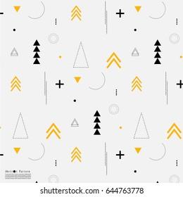 Geometric Arrow Flat Pattern.