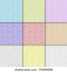 Geometric background. Abstract seamless wallpaper. Multi colored set for textile and wallpapers