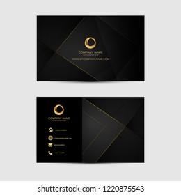 Plantilla de tarjeta de presentación de fondo geométrico. Diseño plano.