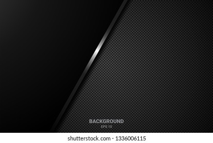 geometric background design with perforated metal texture. Black abstract geometric background. Modern shape concept. Vector 3d. EPS10.