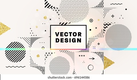Geometric background | Label frame | Abstract patterns design