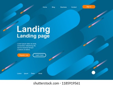 Geometric background for landing page, wallpaper for digital gadgets