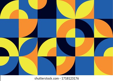 Geometric background. Seamless texture with bright ornament and rich color. Background for the design of banners, graphic materials and design.