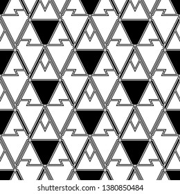 Geometric background. Shapes backdrop. Triangles, rhombuses, parallelograms, trapeziums, polygons pattern. Geometrical figures wallpaper. Digital paper, abstract. Seamless ornament