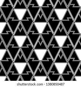 Geometric background. Shapes backdrop. Triangles, rhombuses, parallelograms, trapeziums, polygons pattern. Geometrical figures wallpaper. Digital paper, abstract. Seamless ornament.