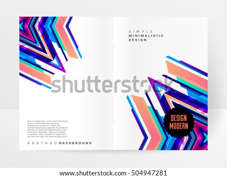 geometric background template covers flyers banners stock vector