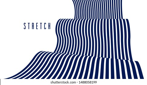 Geometric backgrounds with minimal parallel 3D lines vector abstract illustration, dimensional design cool element, funky style layout for ads posters banners and covers.