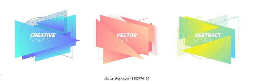Geometric badges set. Trendy minimal design. Eps10 vector.