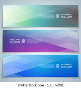 Geometric banner. Abstract vector background eps 10.