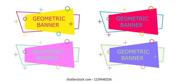 Geometric banner background design. Abstract illustration colorful vector. Wallpaper template modern shape grpahic decoration. Minimal flyer brochure label. Business web triangle advertising offer.