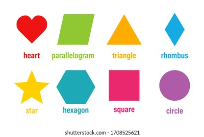 Geometric basic shapes vector isolated colored element design. Abstract geometric frame. Badges colored icon banners or tags. Vector shapes set. EPS 10