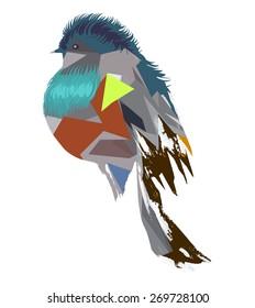 Geometric bird.Vector illustration.