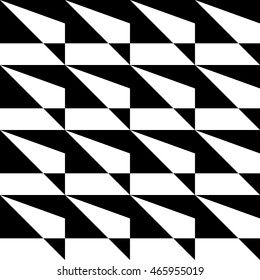geometric black and white pattern of triangles