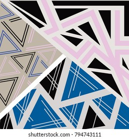 Geometric Blue and Pink Pattern