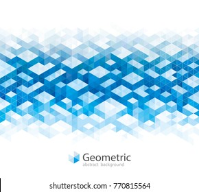 Geometric blue urban abstract banner background.