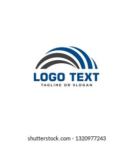 Geometric bridge logo design