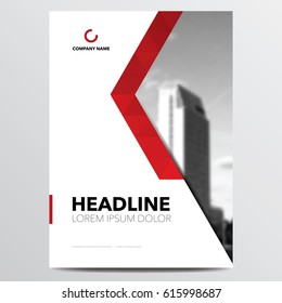 Geometric business brochure or annual report cover design template. Vector illustration.
