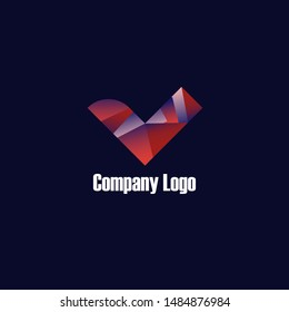 geometric Business logo, identify logotype.