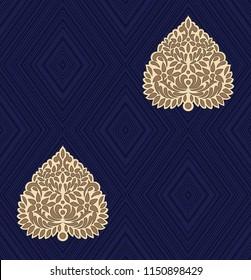 Geometric Butta Design pattern on navy