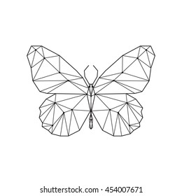 Geometric butterfly. Butterfly constellation.