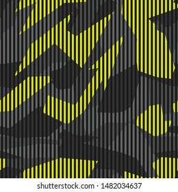 Geometric camouflage seamless pattern. Racing background on van print on paper and decal. Modern vector design.