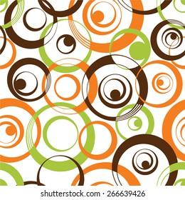 Geometric circle pattern,seamless in vector.