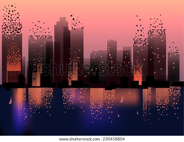 Geometric city Architectural  Architecture Abstract