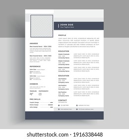 Geometric color business resume Vector