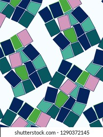 Geometric colored mosaic pattern vector print