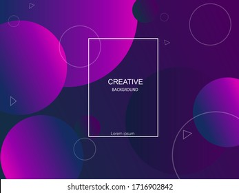 Geometric colorful background vector design. Abstract banner with geometric gradient circle.