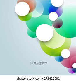 Geometric Colorful Circles Background