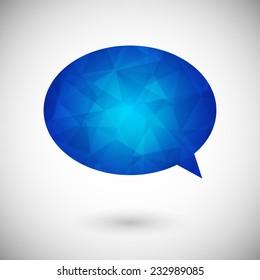Geometric colorful speech bubble design. Web chat icon
