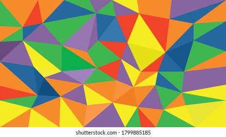Geometric colorful of triangle background