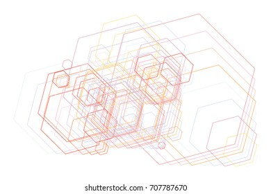 Geometric Conceptual background hexagon pattern for design. Vector illustration graphic.
