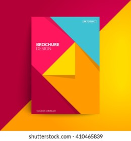 Geometric cover design. A4 format template for brochure,poster,flyer etc.
