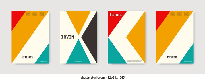Geometric cover. Shapes patterns. Pink, gold, white, bright business concept. Triangle design template. Colorful set of vector graphic design covers. Cool geometric cover. Futuristic triangle.