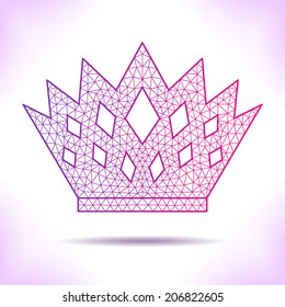 Geometric crown. Unusual interpretation for card, invitation, article or others.