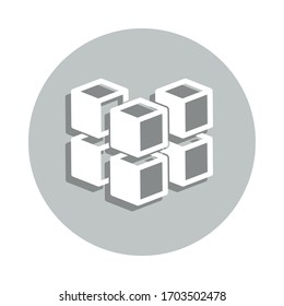geometric cube badge icon. Simple glyph, flat vector of Miscellaneous icons for ui and ux, website or mobile application