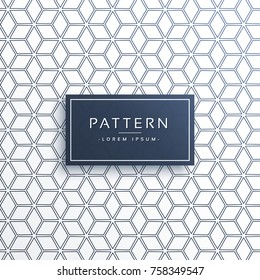 geometric cube style abstract pattern background