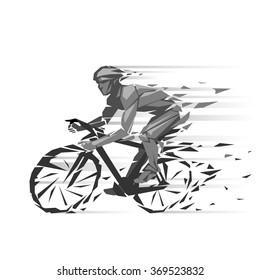 Geometric cyclist illustration